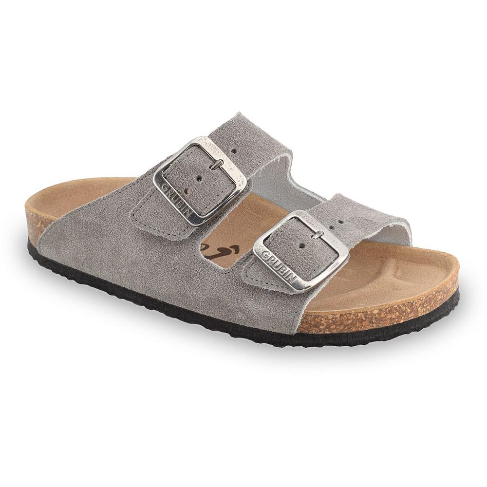 ARIZONA Pantoffeln für Damen - Veloursleder (36-42) - grau, 39