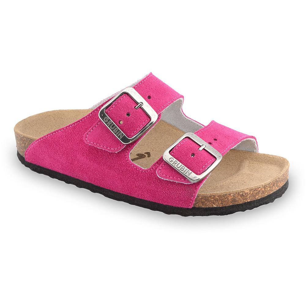 ARIZONA Pantoffeln für Damen - Veloursleder (36-42) - rosa, 36