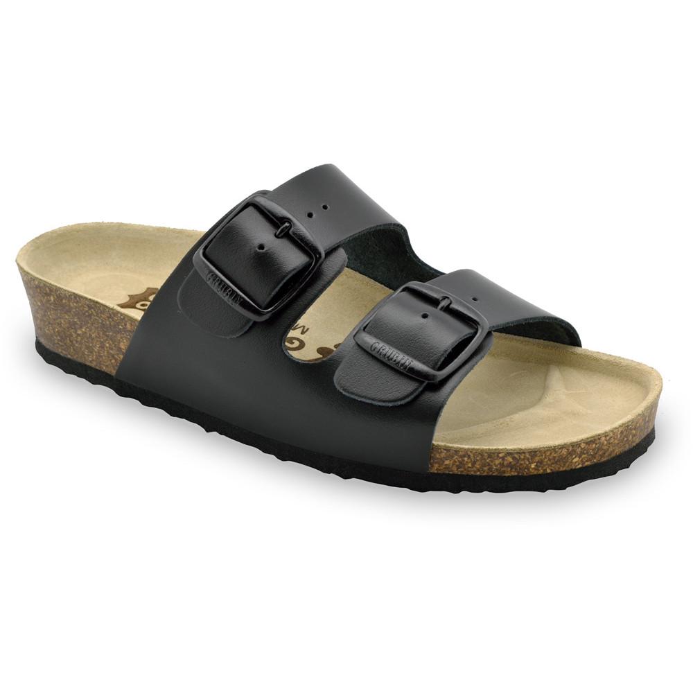 ARIZONA Pantoffeln für Damen - Leder (36-42) - schwartz, 40
