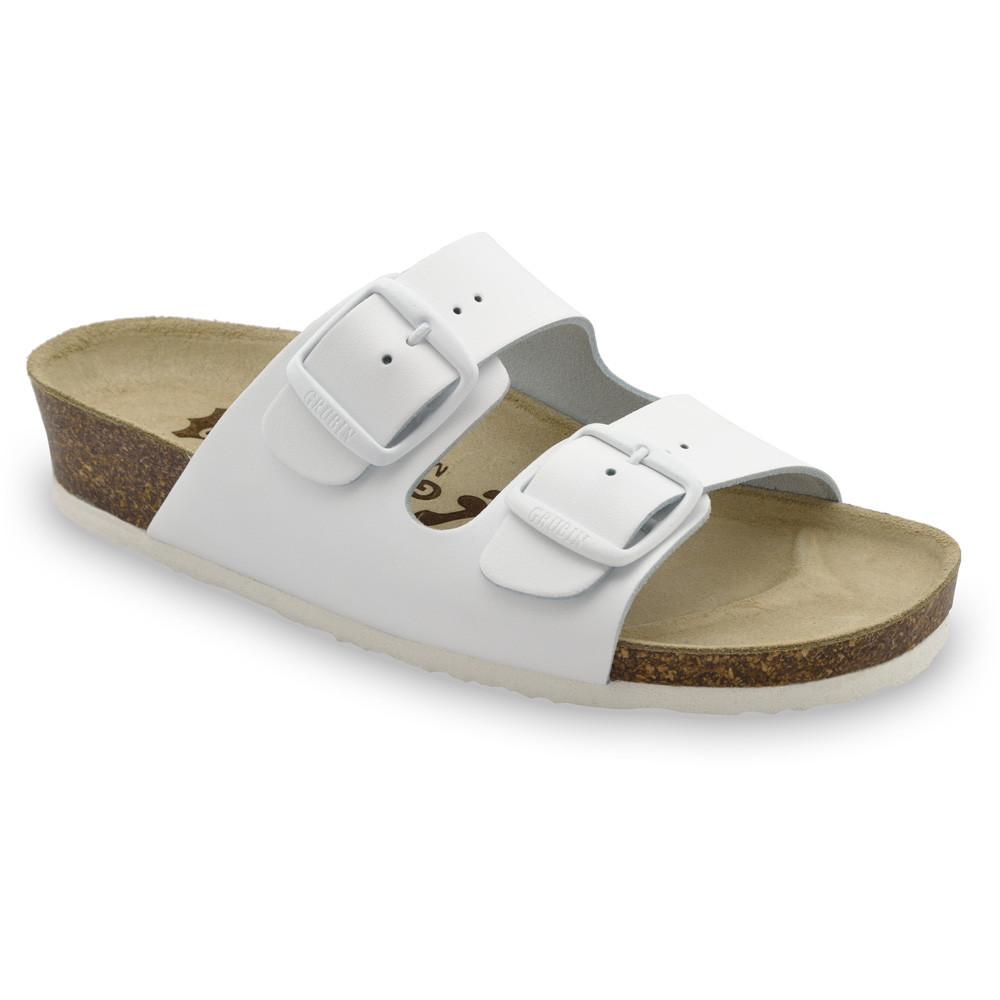 ARIZONA Pantoffeln für Damen - Leder (36-42) - weiß, 40