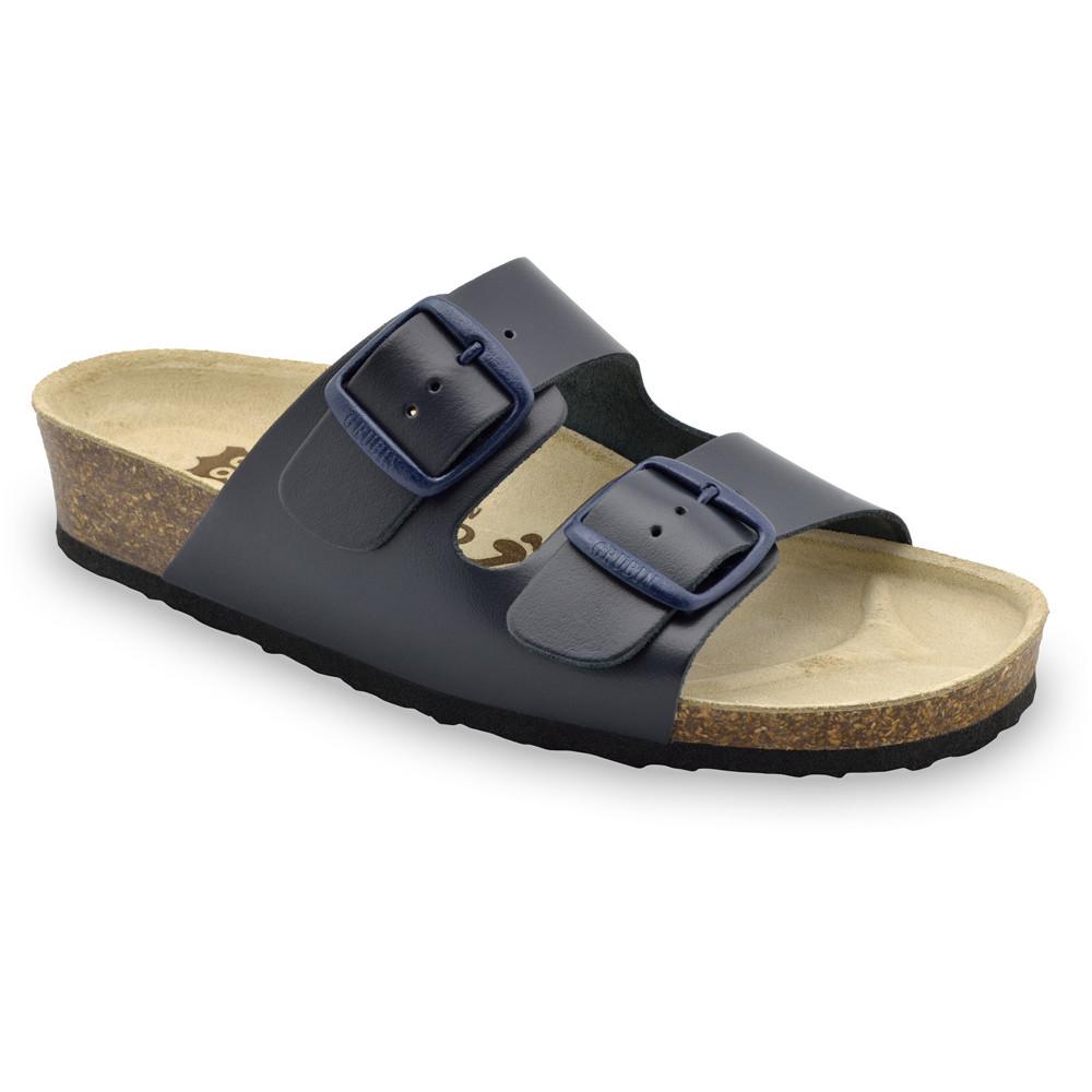ARIZONA Pantoffeln für Damen - Leder (36-42) - blau, 37