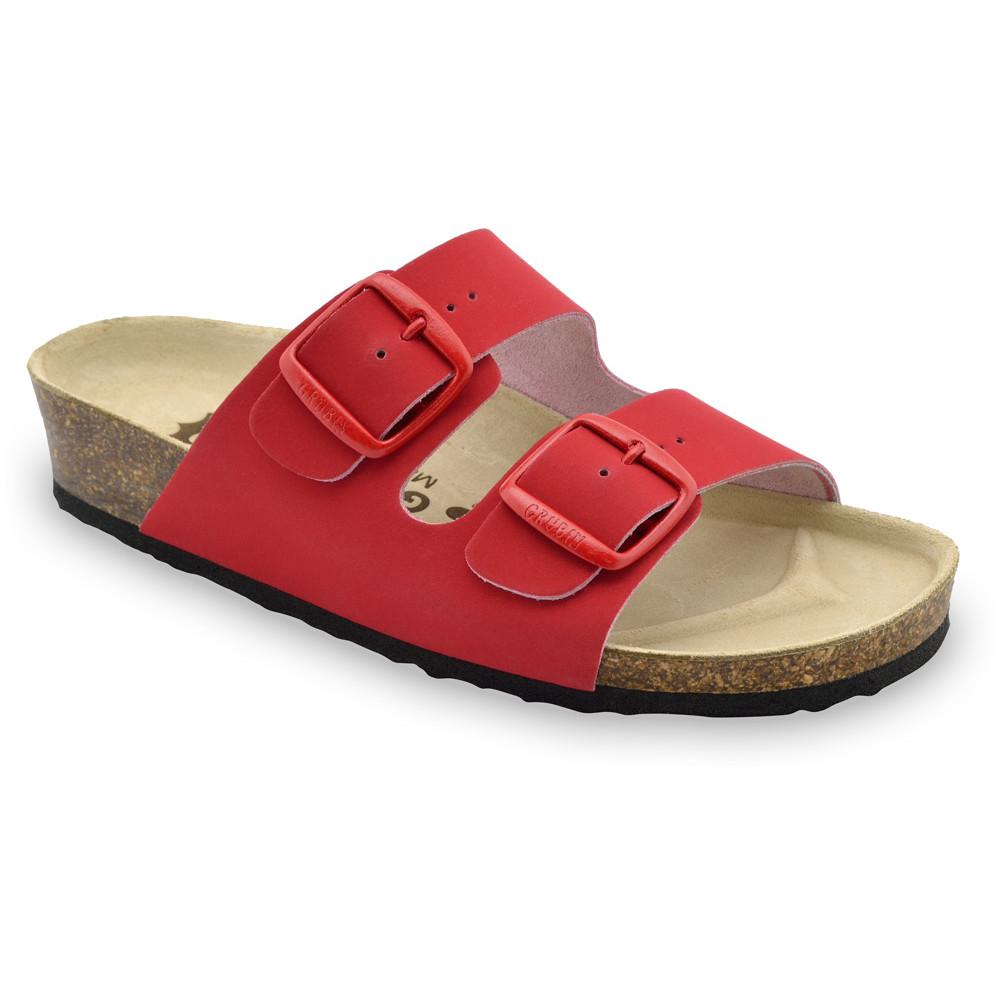 ARIZONA Pantoffeln für Damen - Leder (36-42) - rot, 41