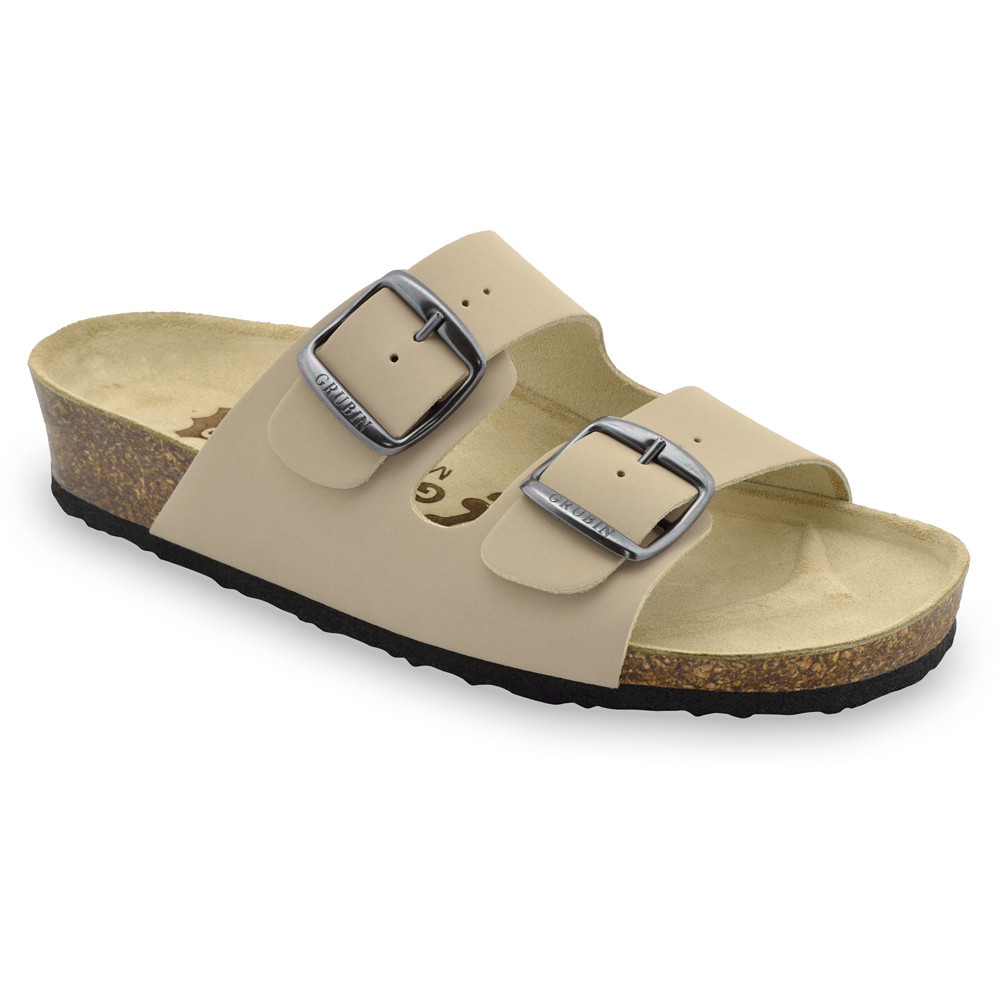 ARIZONA Pantoffeln für Damen - Leder (36-42) - creme, 36
