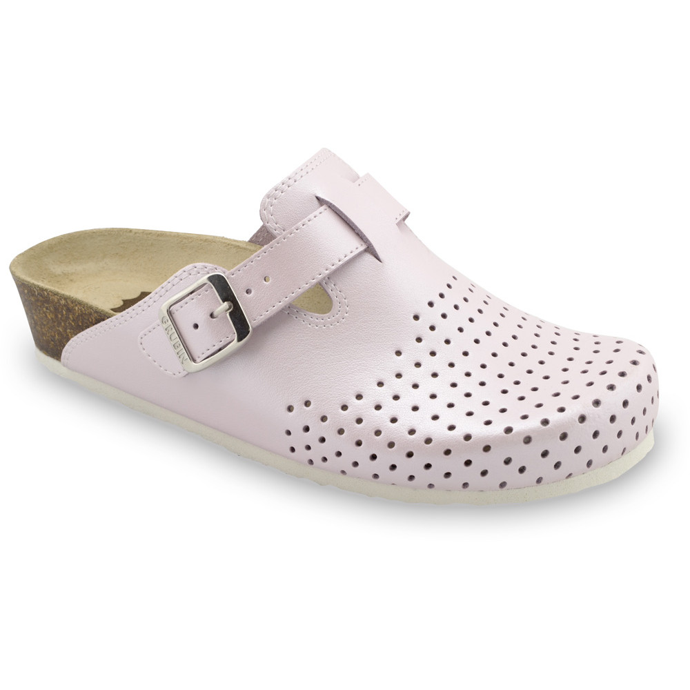 BEOGRAD Geschlossene Pantoffeln für Damen - Leder Kast (36-42) - rosa, 42