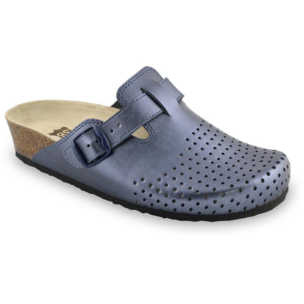 BEOGRAD Geschlossene Pantoffeln für Damen - Leder Kast (36-42) - lila, 36