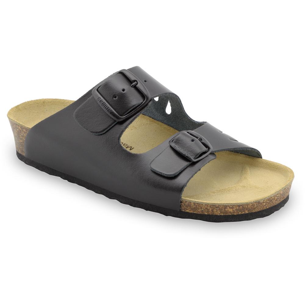 KAIRO Pantoffeln für Damen - Leder (36-42) - schwartz, 36