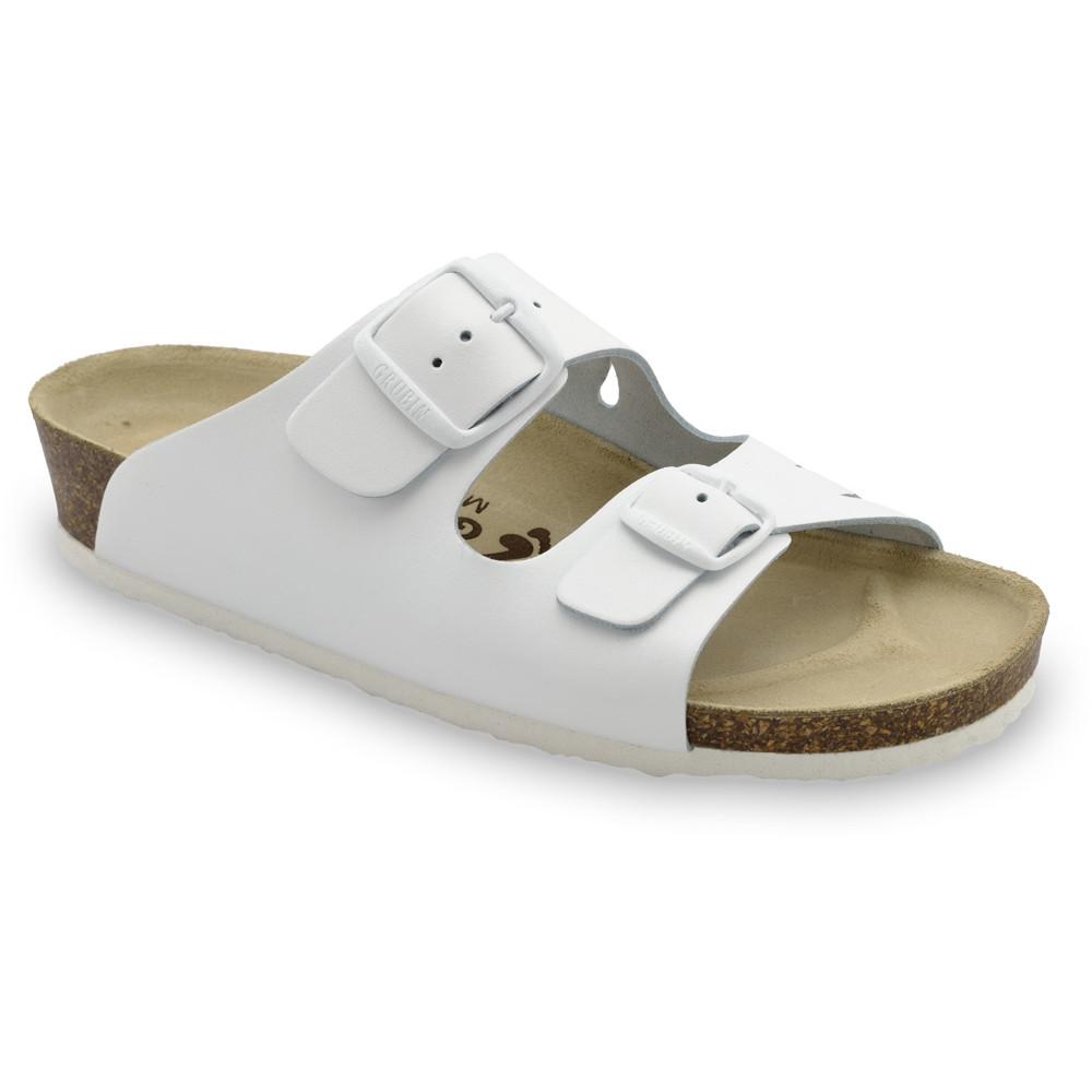 KAIRO Pantoffeln für Damen - Leder (36-42) - weiß, 38