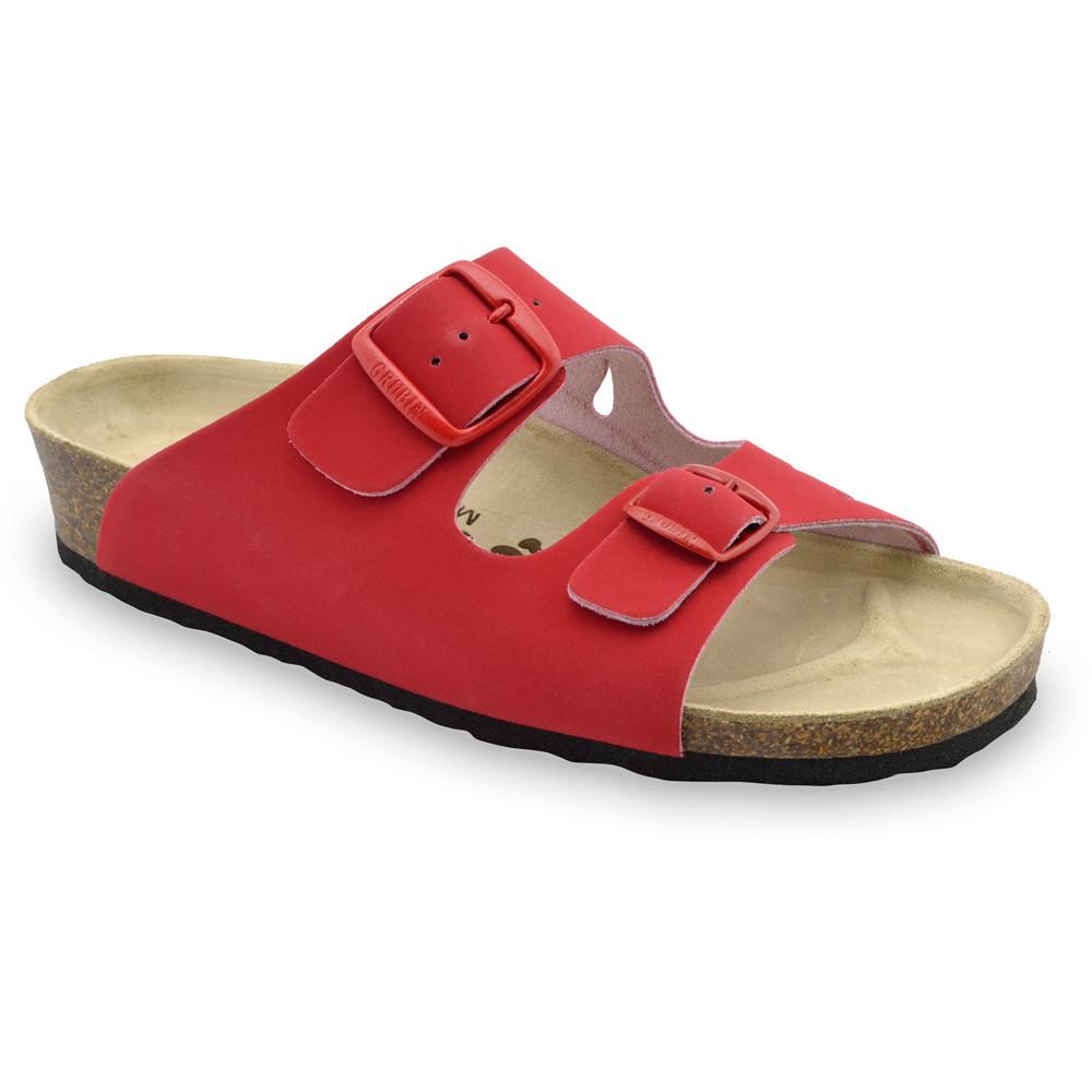 KAIRO Pantoffeln für Damen - Leder (36-42) - rot, 38