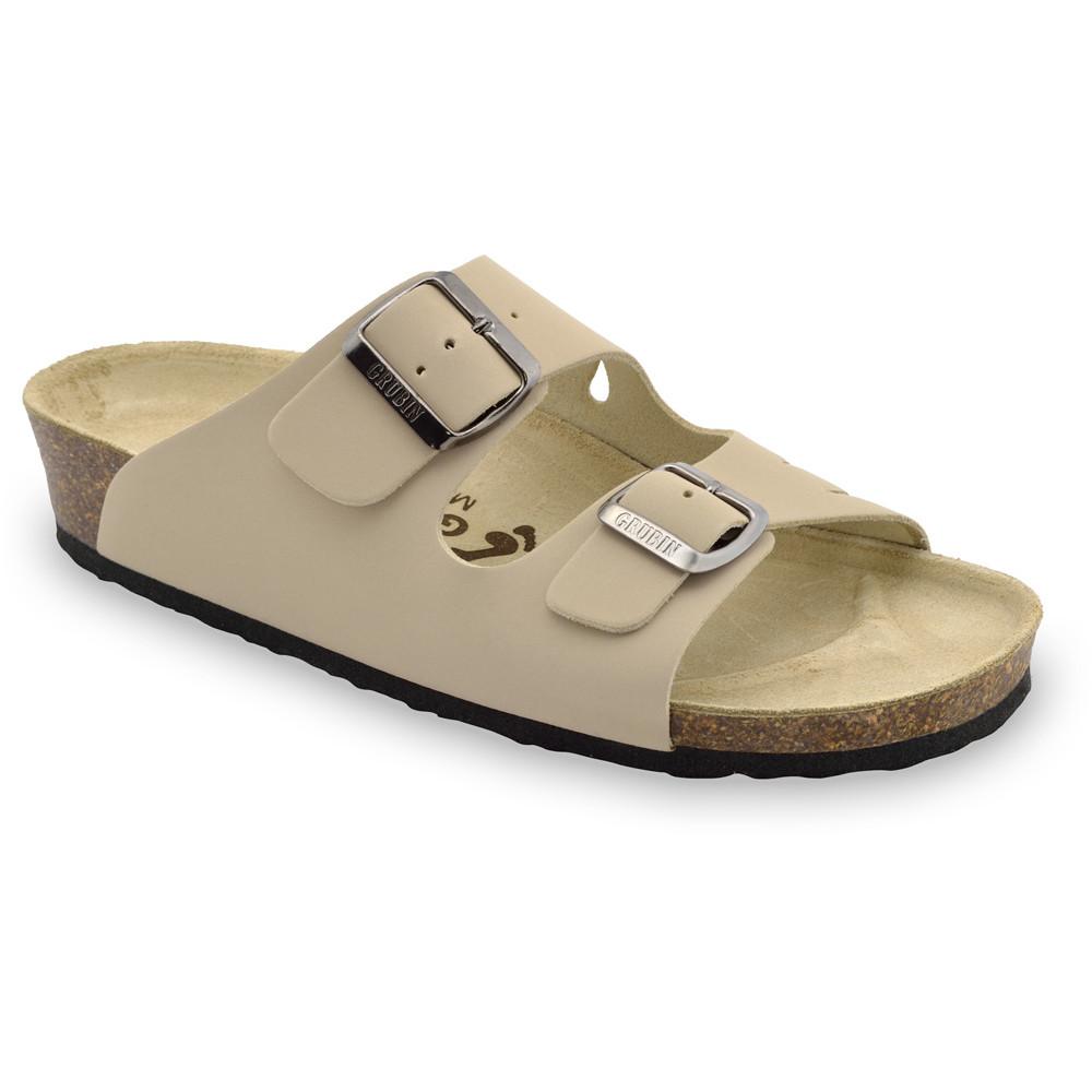 KAIRO Pantoffeln für Damen - Leder (36-42) - creme, 40
