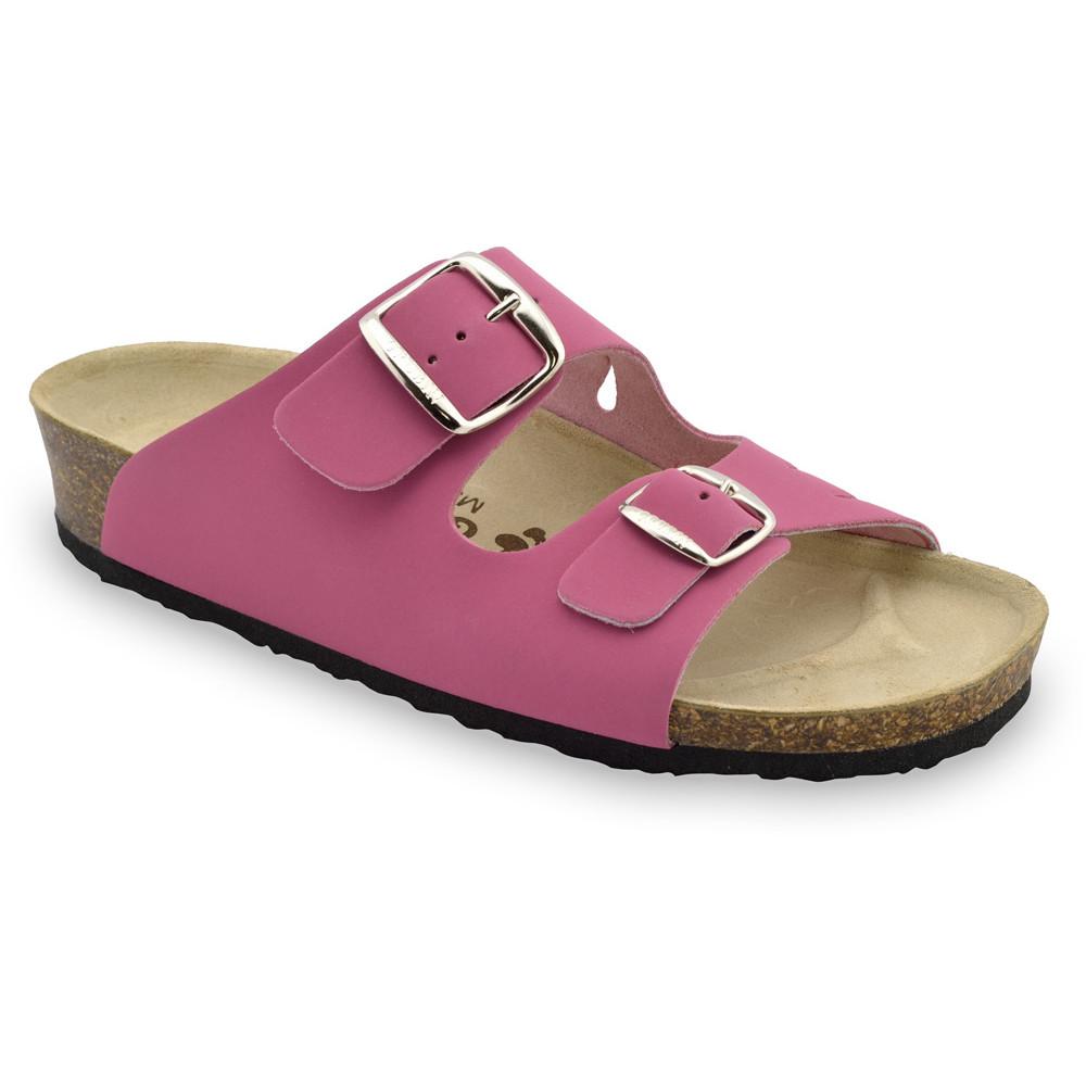 KAIRO Pantoffeln für Damen - Leder (36-42) - rosa, 38