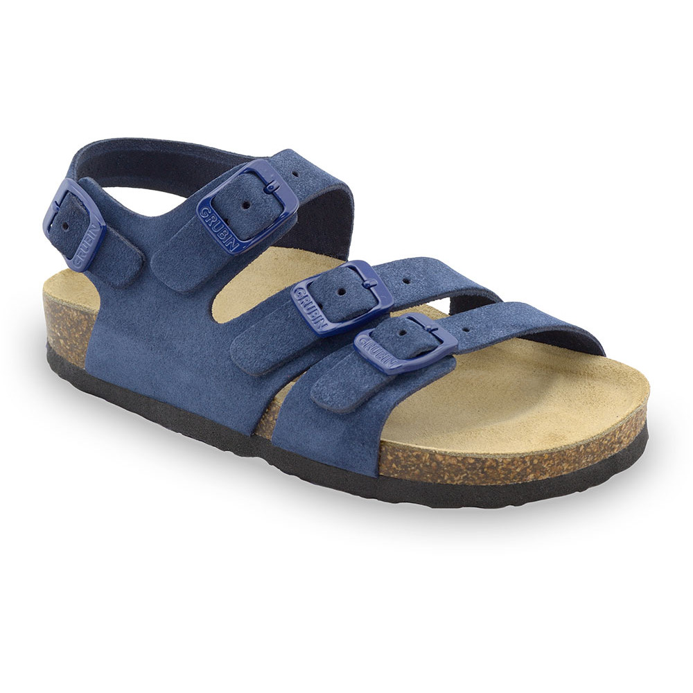 Camber Kinder Ledersandalen (30-35) - blau, 33