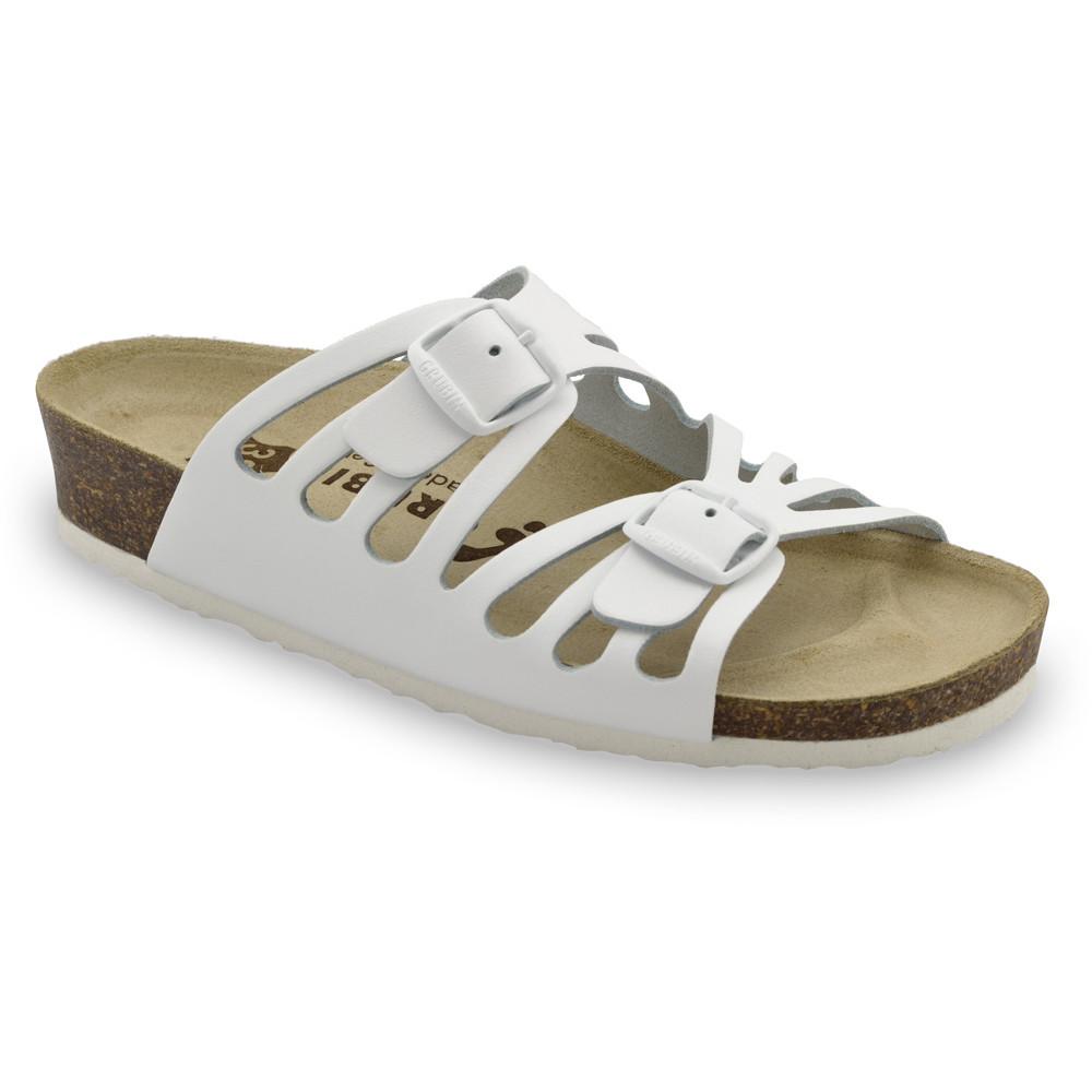 DERBY Pantoffeln für Damen - Leder (36-42) - weiß, 40
