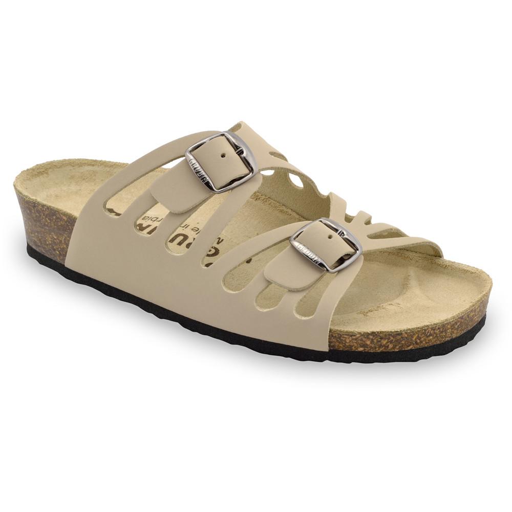DERBY Pantoffeln für Damen - Leder (36-42) - creme, 42