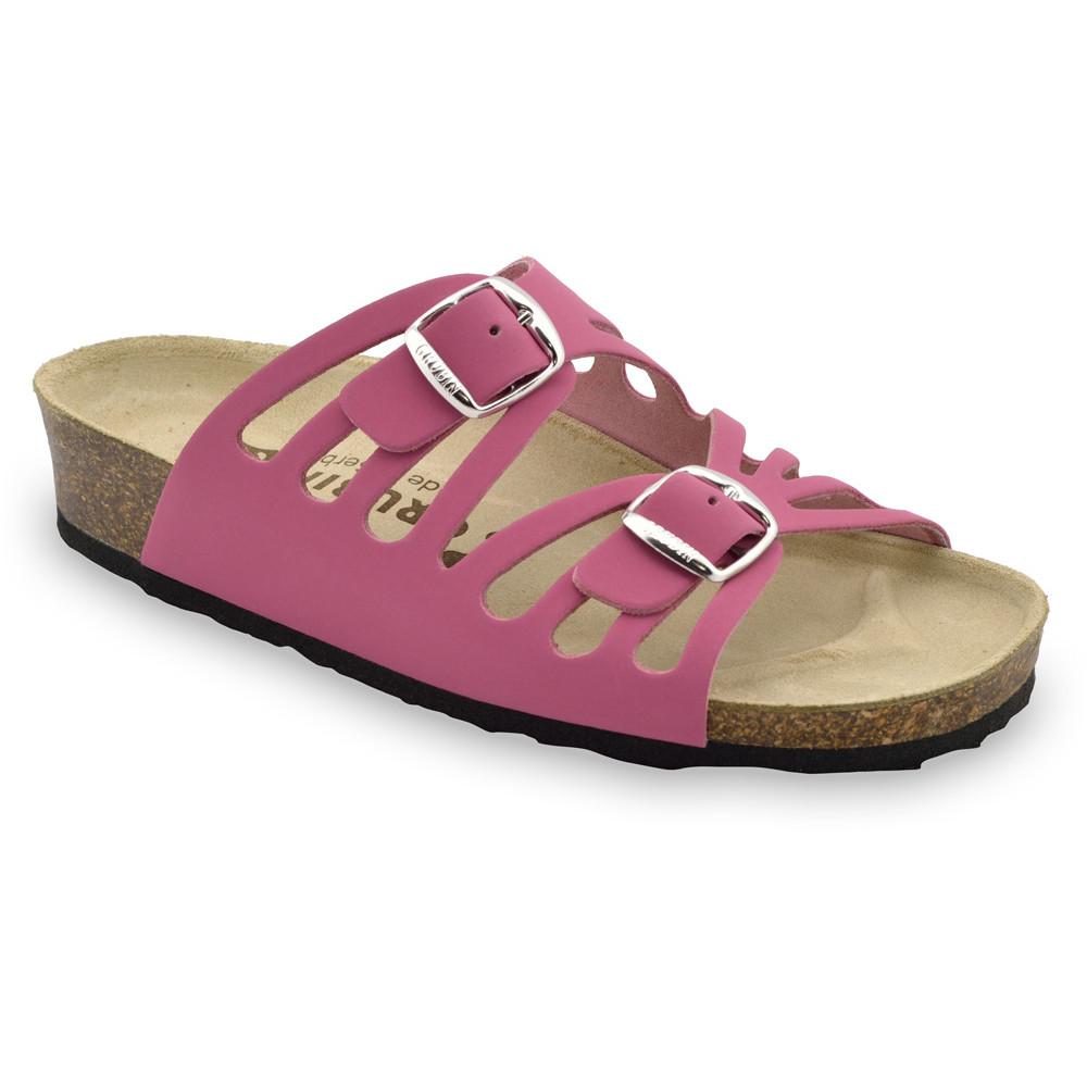 DERBY Pantoffeln für Damen - Leder (36-42) - rosa, 42