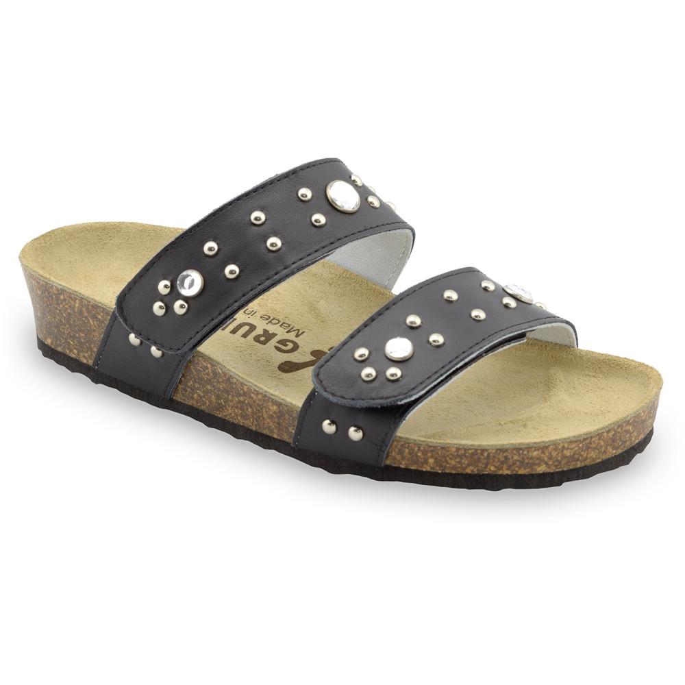 MALTA Pantoffeln für Damen - Leder (36-42) - schwartz, 36