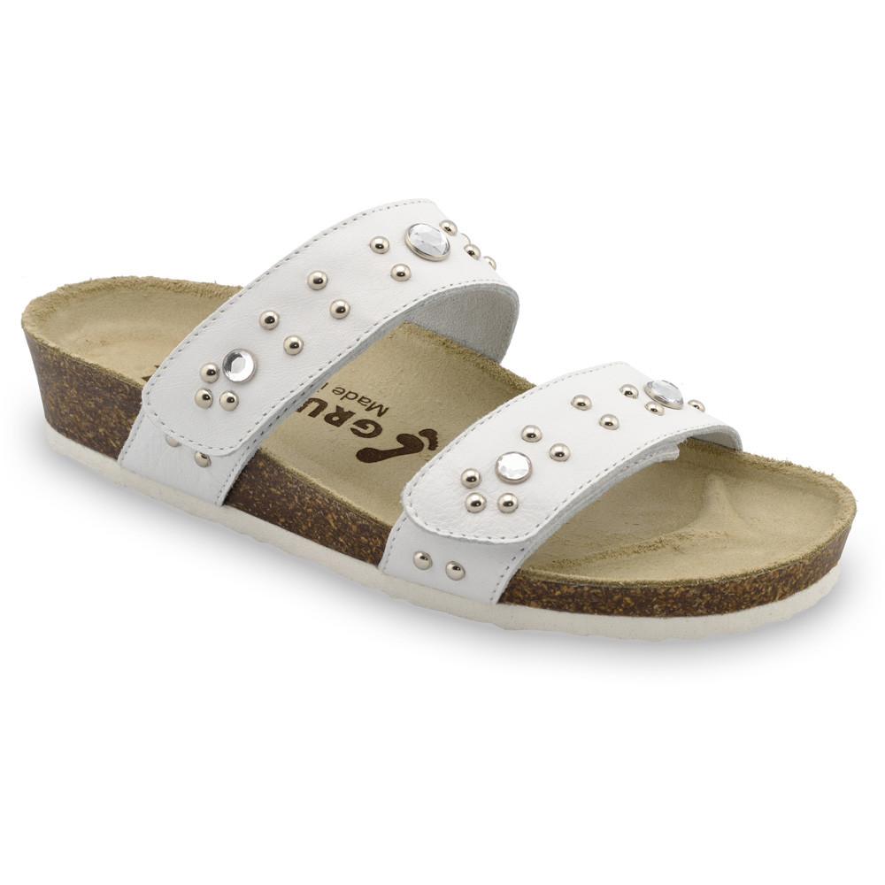 MALTA Pantoffeln für Damen - Leder (36-42) - weiß, 36
