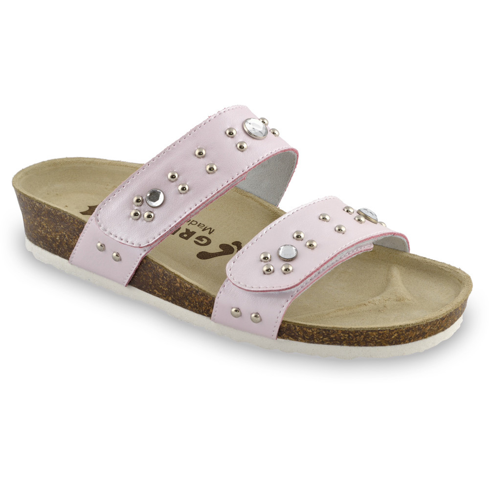MALTA Pantoffeln für Damen - Leder (36-42) - rosa, 36