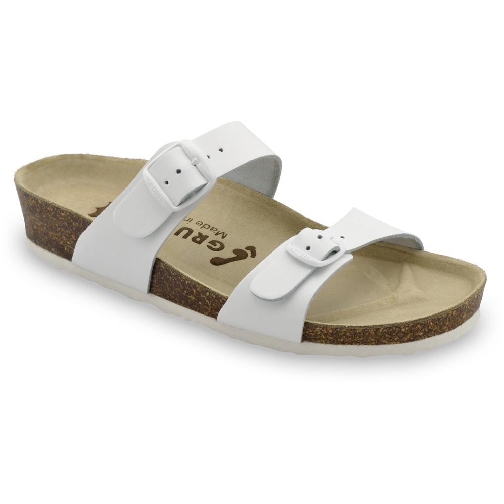 EDITH Pantoffeln für Damen - Leder (36-42) - weiß, 42