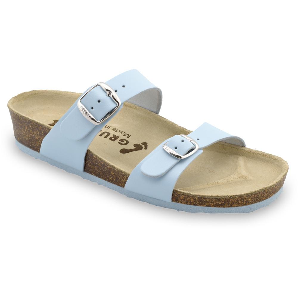 EDITH Pantoffeln für Damen - Leder (36-42) - hellblau, 36