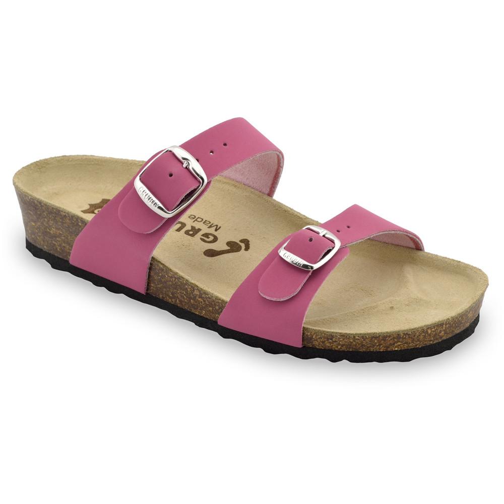 EDITH Pantoffeln für Damen - Leder (36-42) - rosa, 39