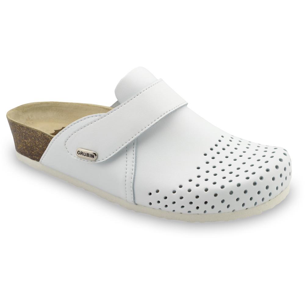 OREGON Geschlossene Pantoffeln für Damen - Leder (36-42) - weiß, 42