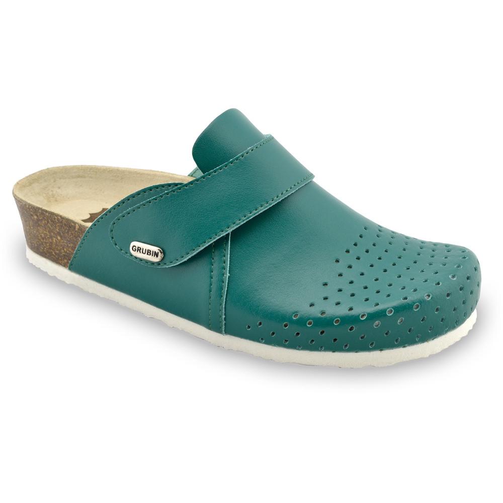 OREGON Geschlossene Pantoffeln für Damen - Leder (36-42) - grün, 37