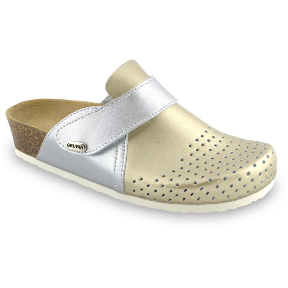 OREGON Geschlossene Pantoffeln für Damen - Leder Kast (36-42) - Gold, 38