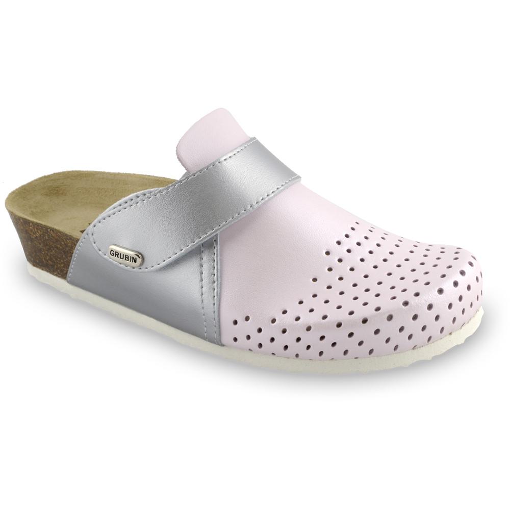 OREGON Geschlossene Pantoffeln für Damen - Leder Kast (36-42) - rosa, 38