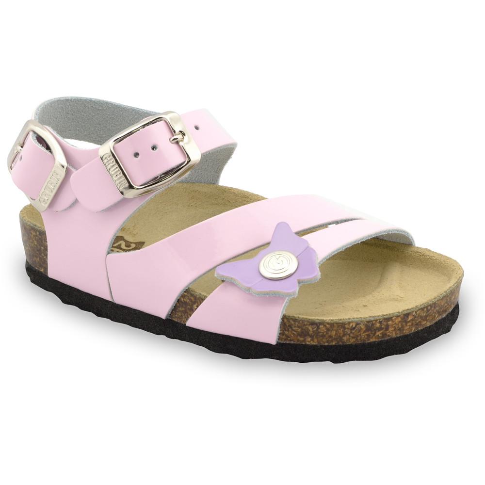 KATY Sandalen für Kinder - Leder (23-29) - rosa, 25