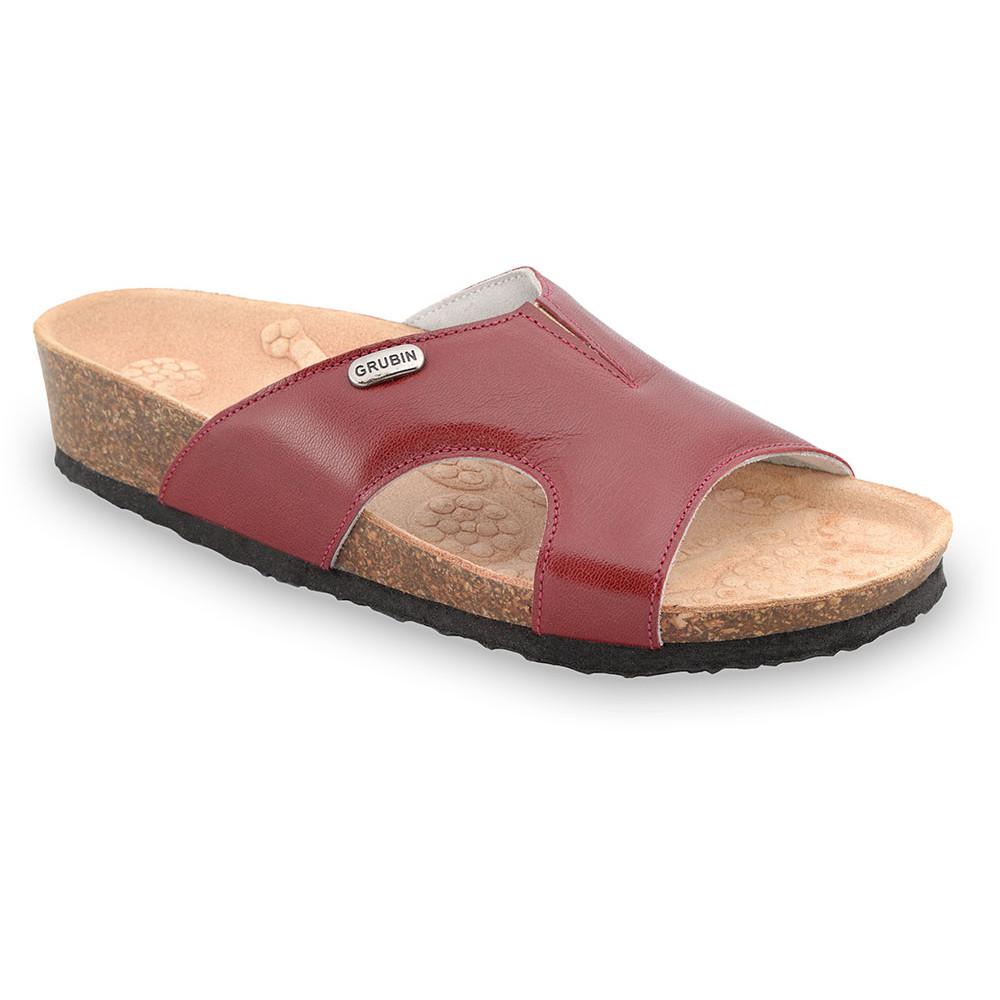 MARTINA Pantoffeln für Damen - Leder (37-41) - rot, 39