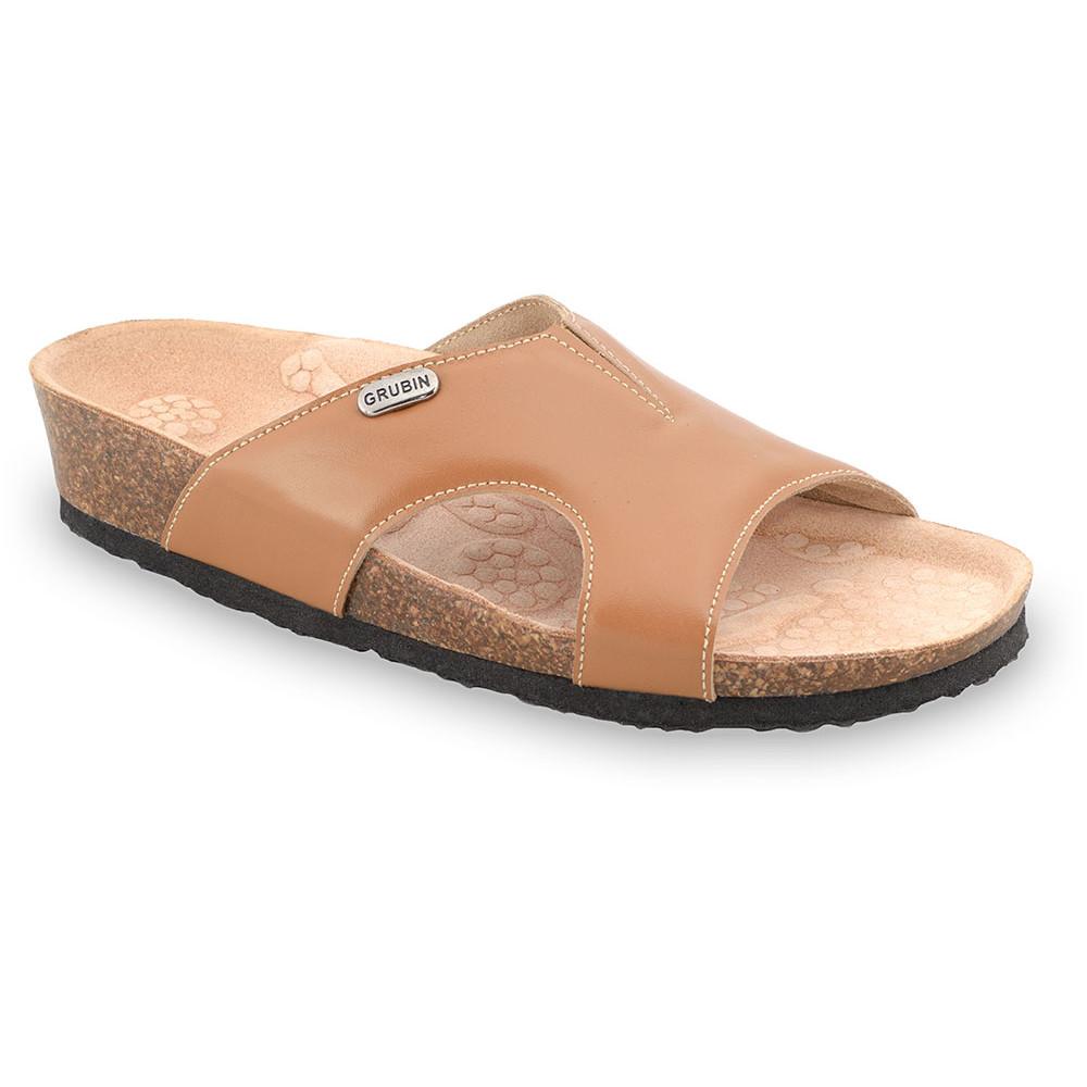 MARTINA Pantoffeln für Damen - Leder (37-41) - orange, 39