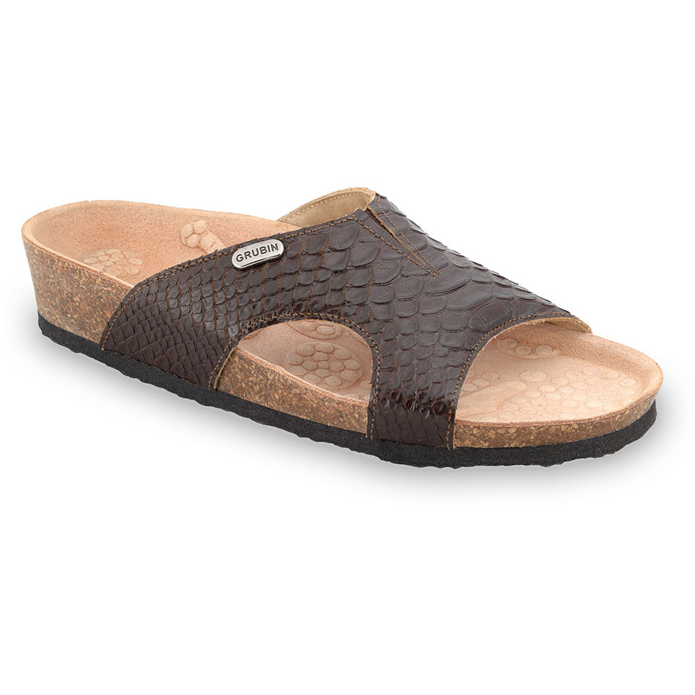 MARTINA Pantoffeln für Damen - Leder (37-41) - braun, 40