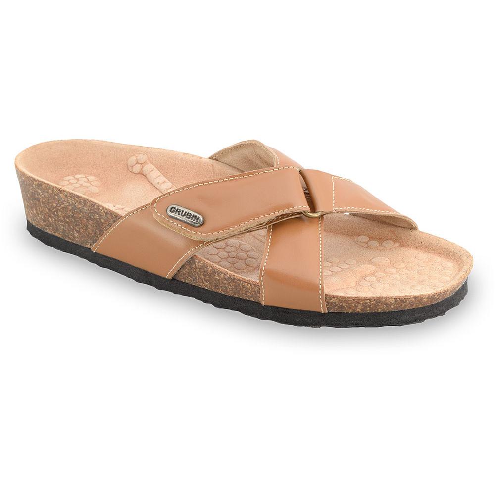 EMILIANA Pantoffeln für Damen - Leder (37-41) - orange, 37