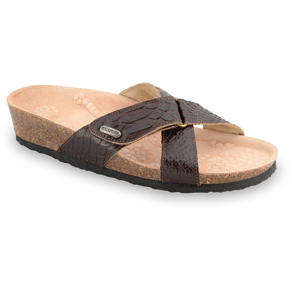 EMILIANA Pantoffeln für Damen - Leder (37-41) - braun, 39