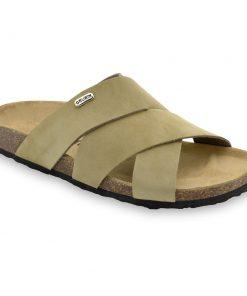MORANDI Pantoffeln für Herren - Leder Nubuk (40-49)