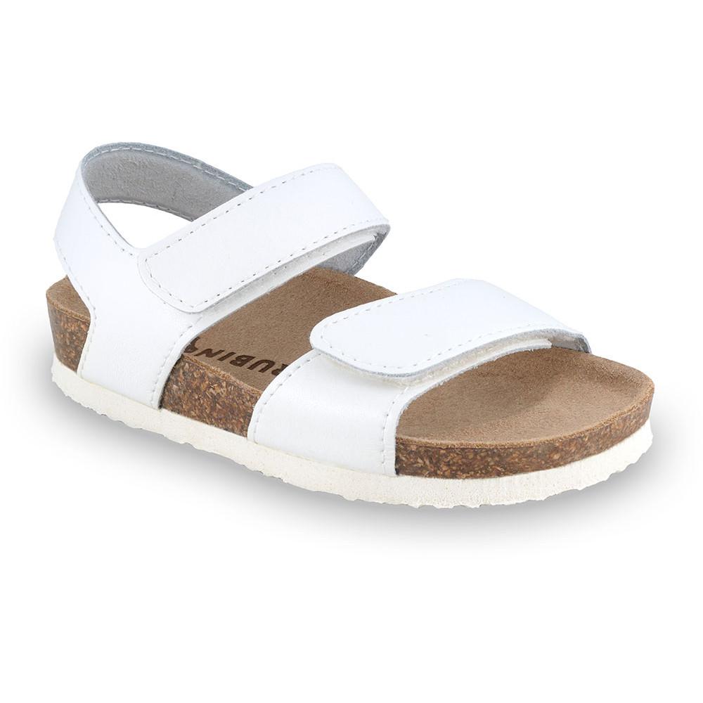 DIONIS Sandalen für Kinder - Leder (23-29) - weiß, 26