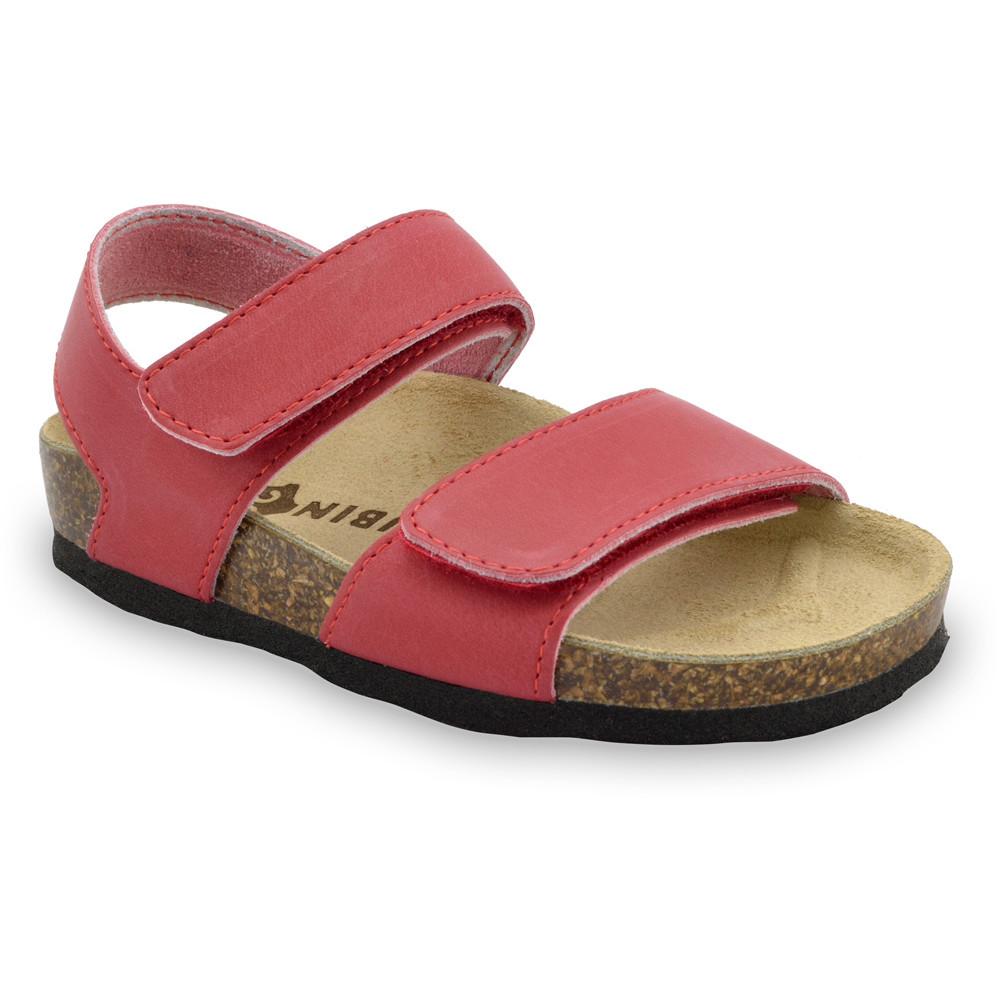 DIONIS Sandalen für Kinder - Leder (23-29) - rot, 28