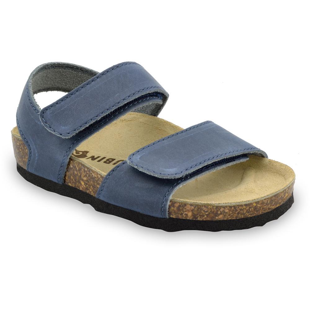DIONIS Sandalen für Kinder - Leder (23-29) - blau, 25