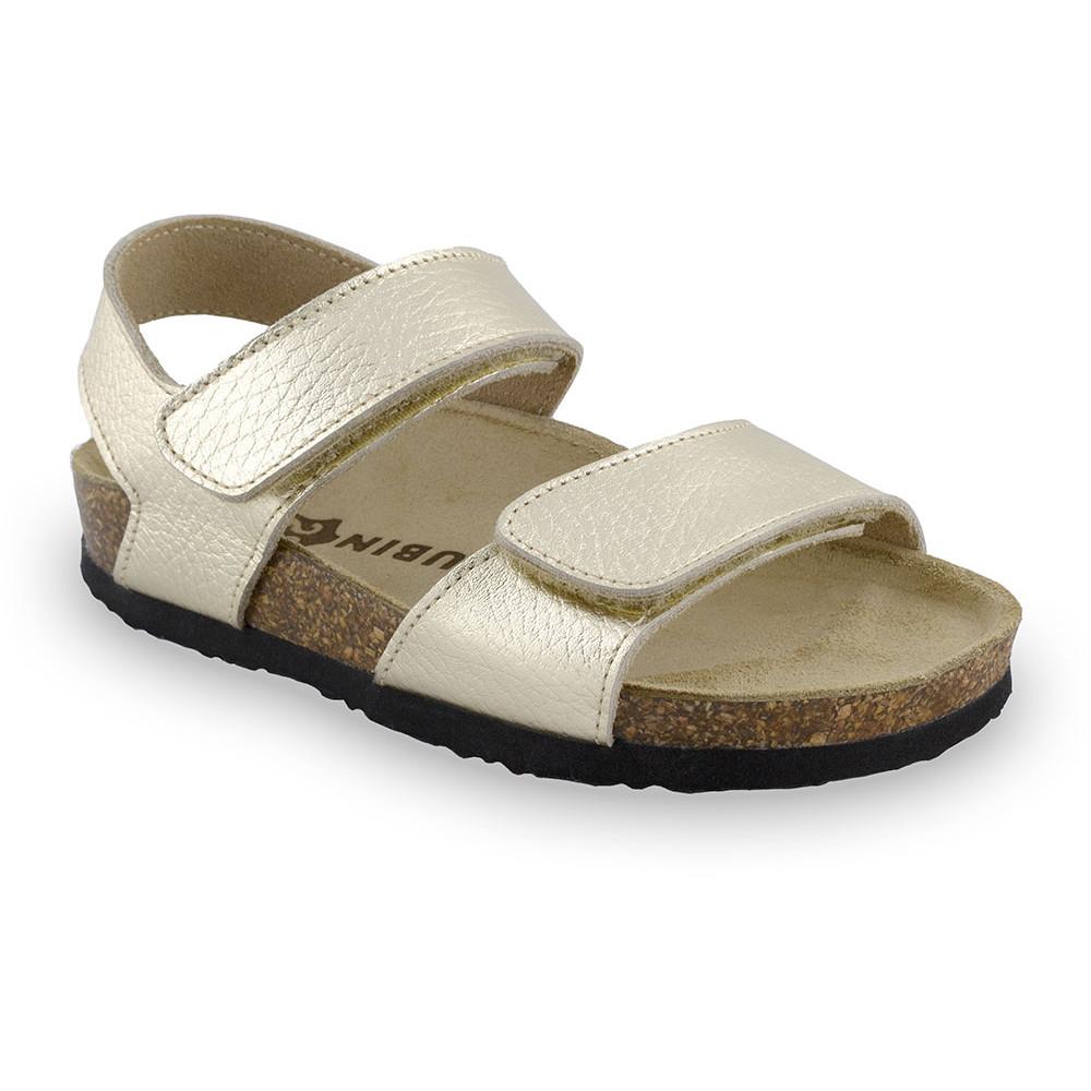 DIONIS Sandalen für Kinder - Leder (30-35) - Gold, 32