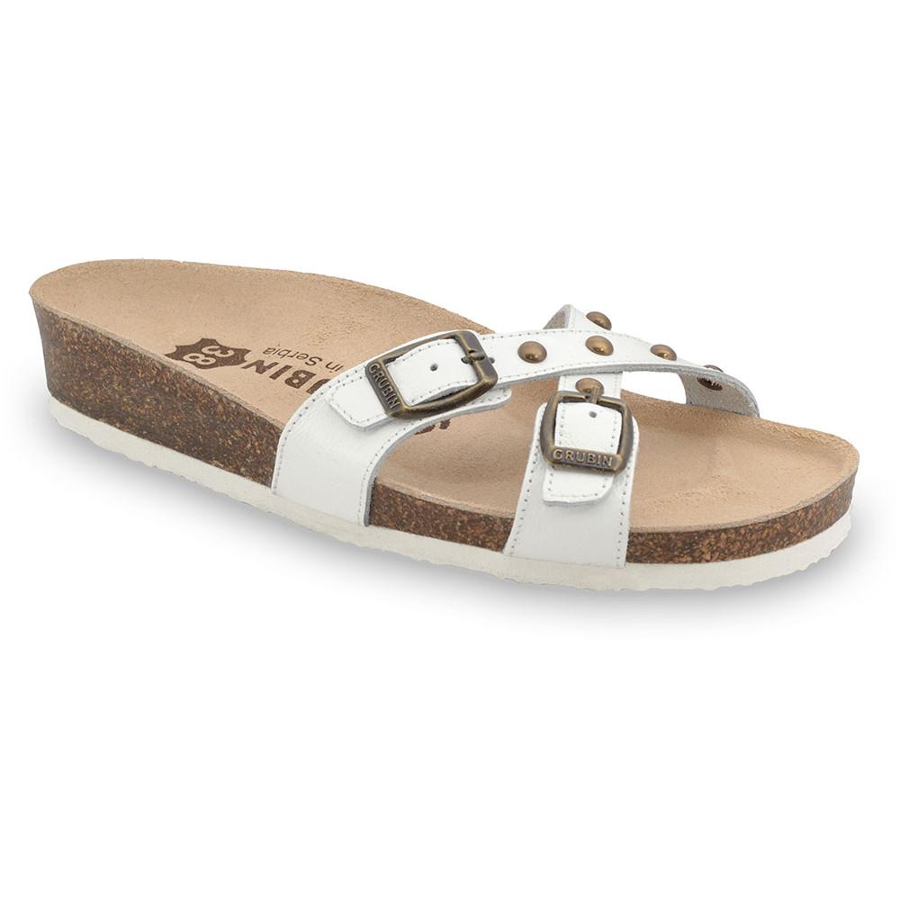 MODENA Pantoffeln für Damen - Leder (36-42) - weiß, 39