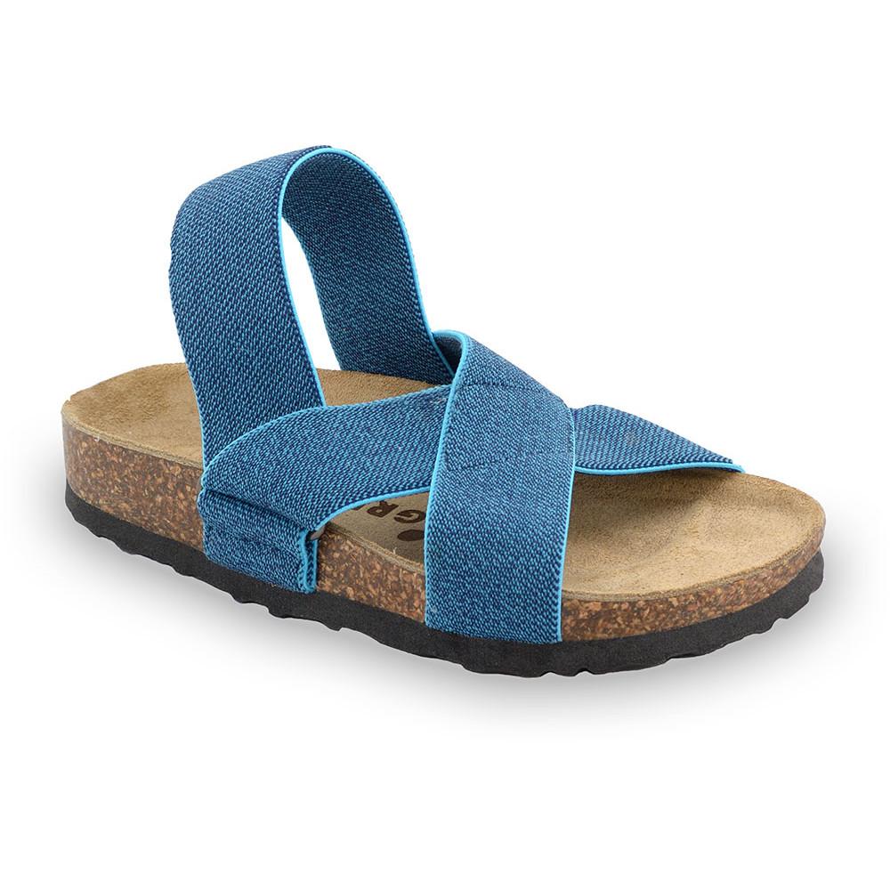 LUI Sandelen für Kinder - Stoff (23-29) - blau, 28