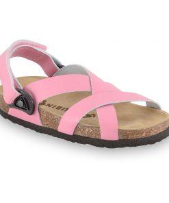 PITAGORA Sandalen für Kinder - Leder Nubuk-Kast (23-29)