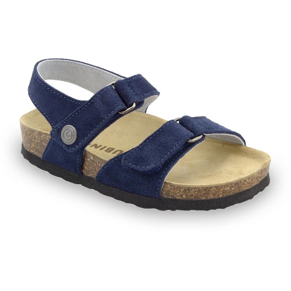 RAFAELO Sandalen für Kinder - Veloursleder (23-29) - matt blau, 24
