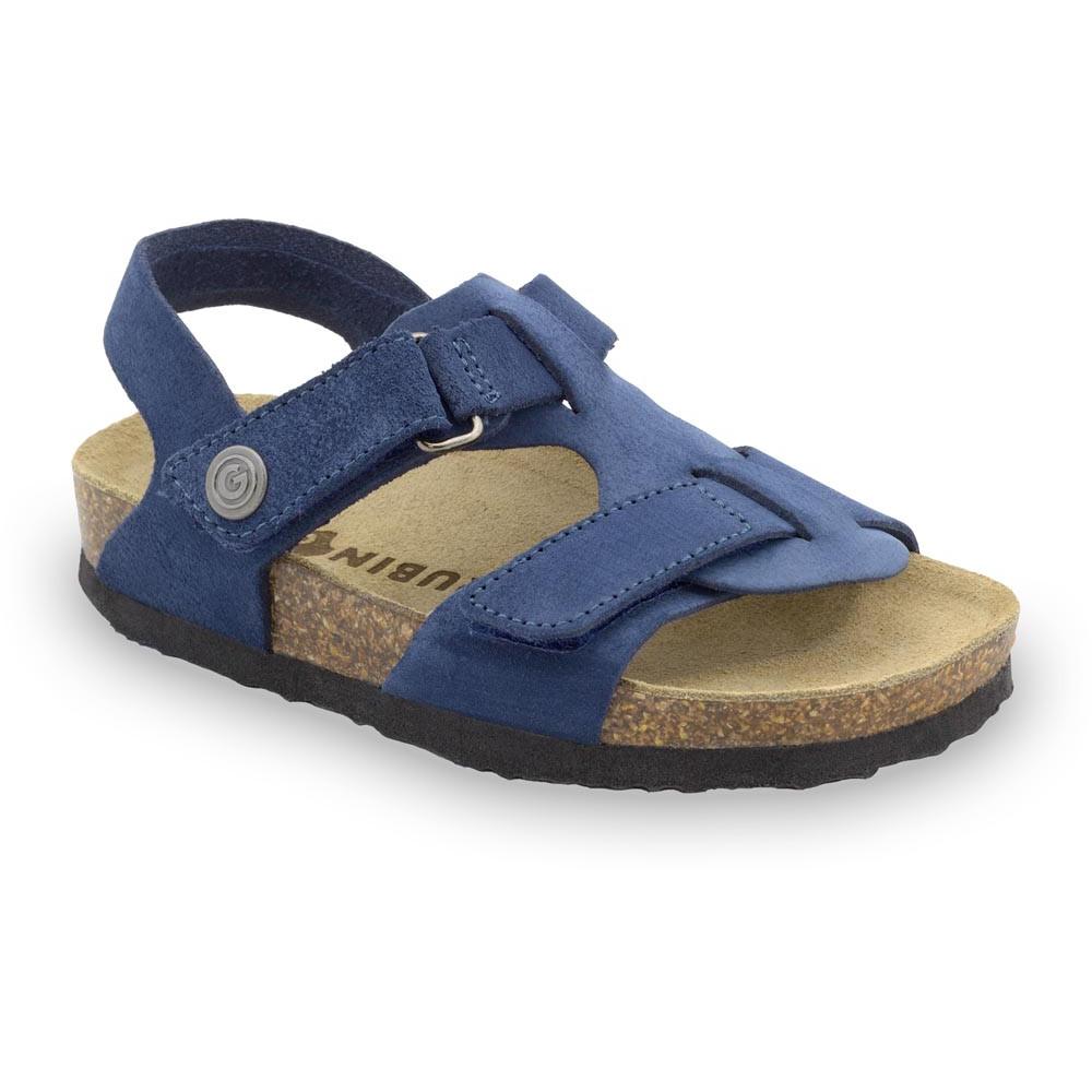 ROTONDA Kinder Ledersandalen - Veloursleder (30-35) - blau, 31
