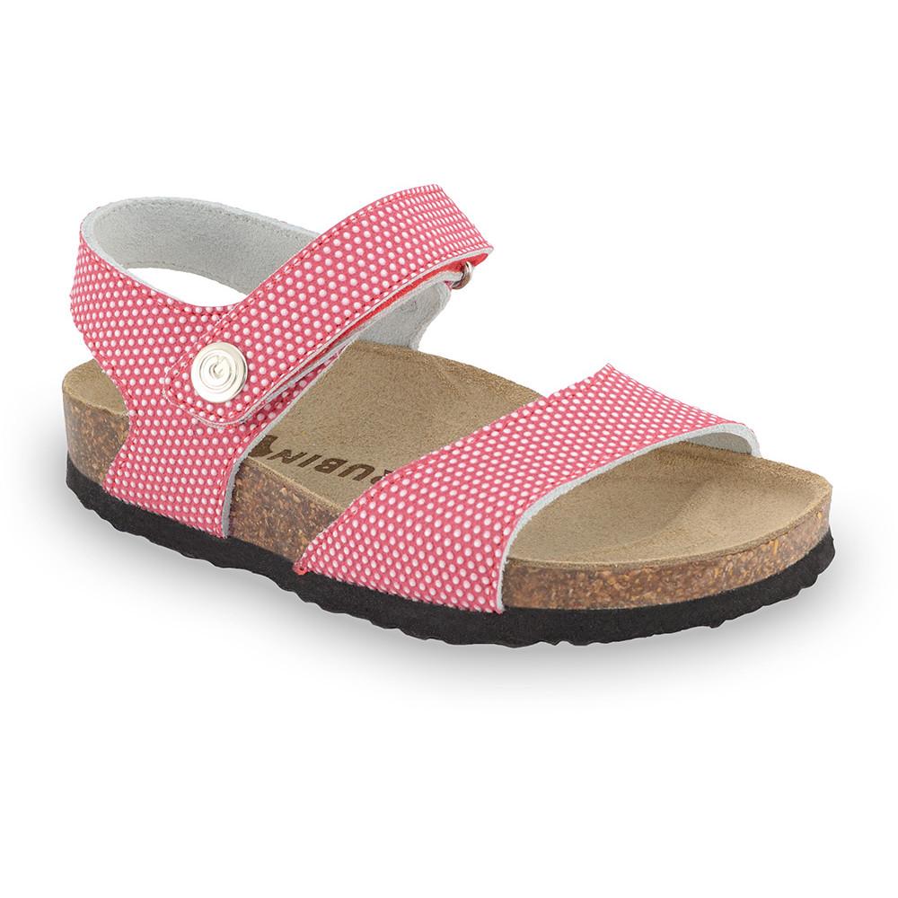 LEONARDO Sandalen für Kinder - Leder Kast (23-29) - rot, 28