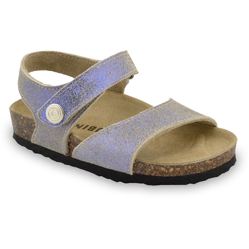 LEONARDO Sandalen für Kinder - Leder (23-29) - lila, 25