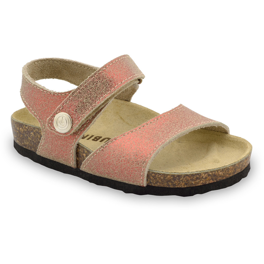 LEONARDO Sandalen für Kinder - Leder (30-35) - bronze, 35