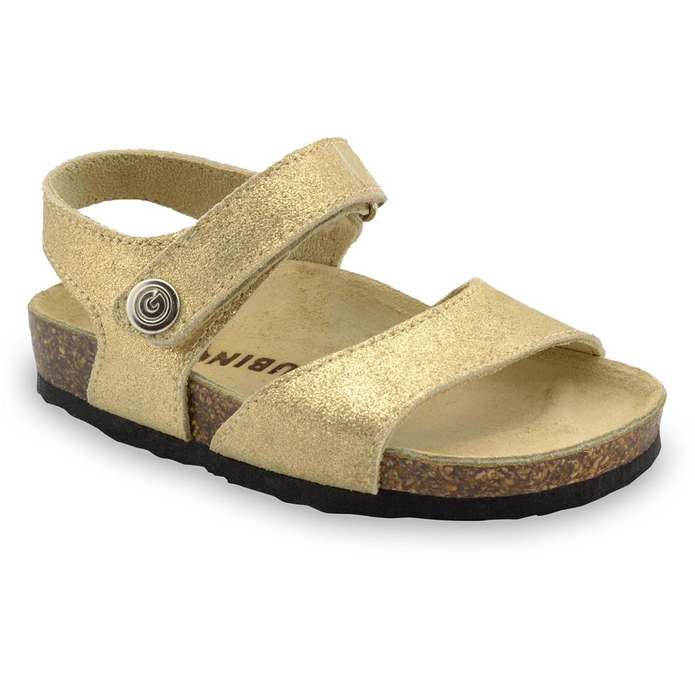 LEONARDO Sandalen für Kinder - Leder (30-35) - Gold, 33