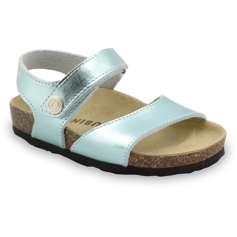 LEONARDO Sandalen für Kinder - Leder (30-35) - hellblau, 32