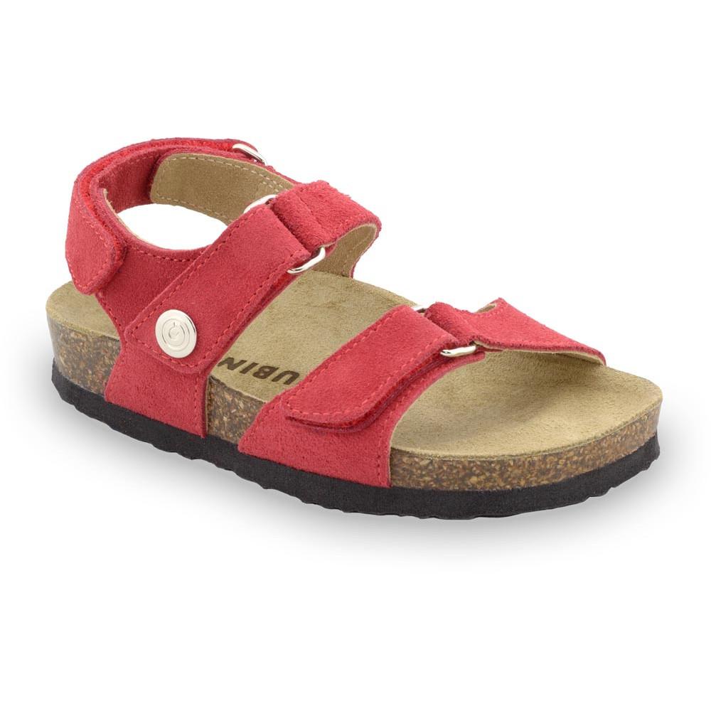 DONATELO Sandalen für Kinder - Veloursleder (23-29) - rot, 24